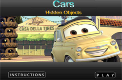 Cars, hidden objects